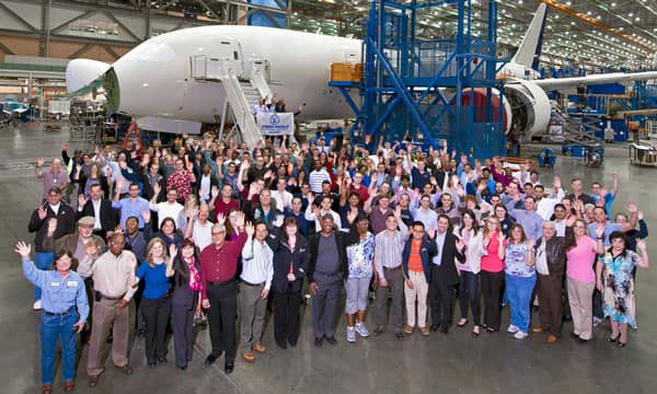 Boeing alumni group photo